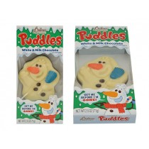 Christmas Palmer Puddles Melting Snowman - White & Milk Chocolate ~ 71 gram