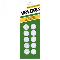 Velcro Stick On Fasteners - Circles ~ White