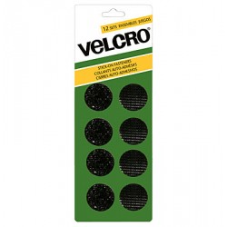 Velcro Stick On Fasteners - Circles ~ Black