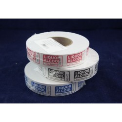 "Single ""Liquor"" Tickets ~ 1000 per roll"
