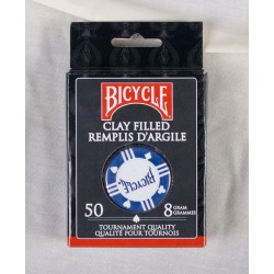 Bicycle Clay Poker Chips - 8grams ~ 50 per box