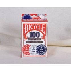 Bicycle Plastic Poker Chips - 2grams ~ 100 per box