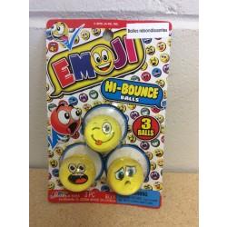 Emoji Hi Bounce Balls ~ 3 per pack