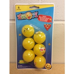 Emoji Beer Pong Balls ~ 6 per pack