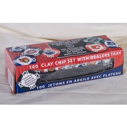 Bicycle Clay Poker Chips w/NHL Teams - 11.5grams ~ 100 per box