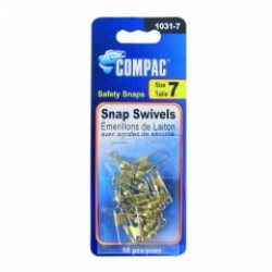 Compac Brass Barrel Swivel w/Safety Snaps