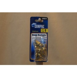 Compac Brass Barrel Swivel w/Interlock Snaps ~ Size 1
