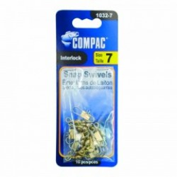 Compac Brass Barrel Swivel w/Interlock Snaps