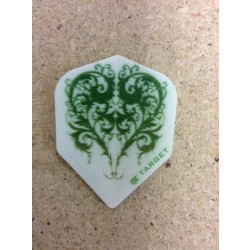 Target Vision Flights ~ Green Heart on White