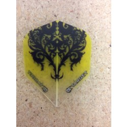 Target Vision Flights ~ Black Heart on Yellow