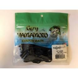 """Gary Yamamoto 4.5"""" Baby Lizards ~ Black (no flake)"""