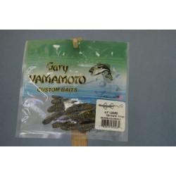 """Gary Yamamoto 4.5"""" Baby Lizards ~ Smoke w/Blue & Gold Flake"""