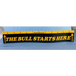 The Bull Starts Here Throw Line