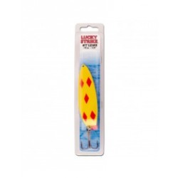"Lucky Strike Lizard Lure 3"" {1/2oz} ~ Yellow & Red Diamonds"