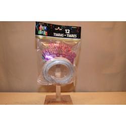 New Year's Glitter Tiaras ~ 12 per pack