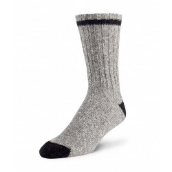 Cotton/Wool Sock - Grey / Black ~ Size Medium
