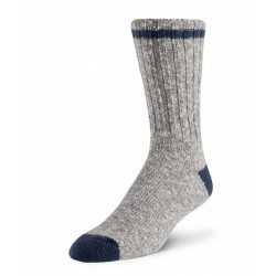 Cotton/Wool Sock - Grey / Blue ~ Size Large