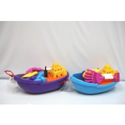 Sand Beach Boat with Tools ~ 6 pieces