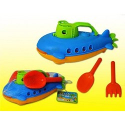 Beach Submarine with Rake + Shovel