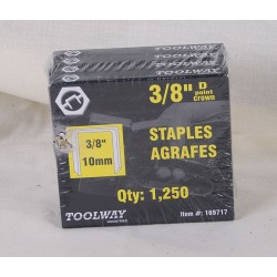 "Toolway T-50 Staples ~ 3/8"" / 10mm"