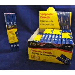 Fat-Pat Carpenter Pencils - Soft Lead ~ 12/pc