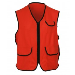 Kid's Fluorescent Orange Fleece Vest w/Zipper Closure