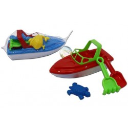 Sand Beach Boat with Tools ~ 5 pieces