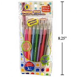 Fashion Stick Pens - barrel matches ink color ~ 8 per pack