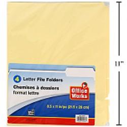 File Folders - Legal Size ~ 4 per pack