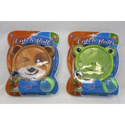 Catch Ball Set with Animal Faces