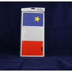 Acadian Flag Metal License Plate