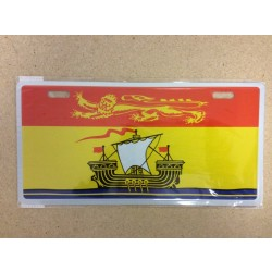 New Brunswick Flag Metal License Plate