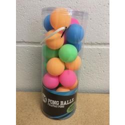 Pong Balls - Neon ~ 24 per pack