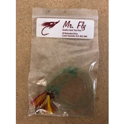 Mr Fly Mackerel Rigs - RED/YELLOW ~ 6 per string