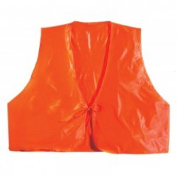 Fl. Orange Vinyl Safety Vest