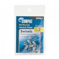 Compac Nickel Ball Bearing Swivel w/Interlocking Snaps