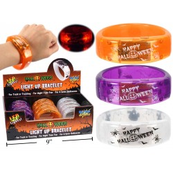 Halloween LED Light-Up Bracelets ~ 12 per display