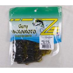 "Gary Yamamoto 4.5"" Baby Lizards ~ Green Pumpkin w/Black"
