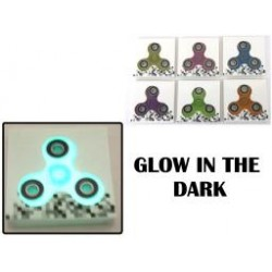 Deluxe Glow-in-the-Dark Hand Spinners ~ 6 assorted colors