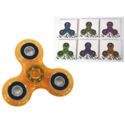Deluxe Glitter Hand Spinners ~ 6 assorted colors