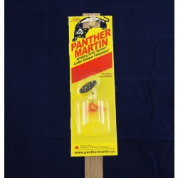 Panther Martin Lure - Size 2 ~ Black / Yellow w/Fly