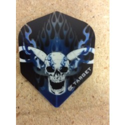 Target Vision Flights ~ Skull w/Horns & Blue Flames