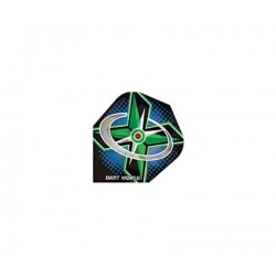 Dartworld Broken Glass ~ Green X w/Bullseye