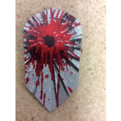 Dartworld Broken Glass ~ Slim Red Splatter