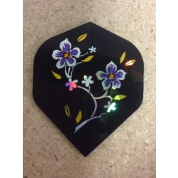 Holographic Flights ~ Purple Flowers