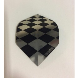 Holographic Flights ~ Black & Silver Checkered Pattern