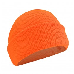 Fl. Orange Acrylic Toque w/Thermakeeper Lining