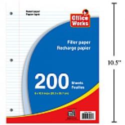 Ruled Filler Paper ~ 200 Sheets