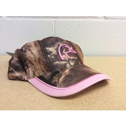 Ladies Camo Ball Cap w/Pink on Peak
