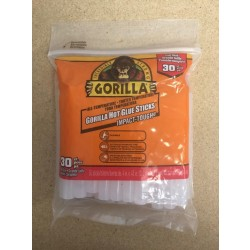 "Gorilla Glue Sticks for Glue Guns - 4"" Full ~ 30 per pack"